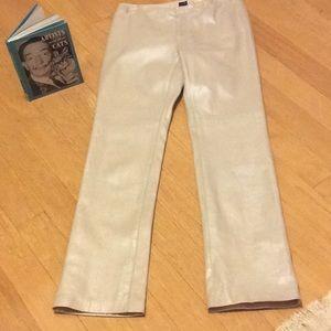 Gap pearl leather slacks